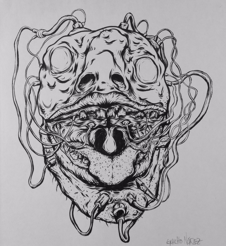 dibujo, ink, tinta, draw, drawing - guicho_nunez | ello