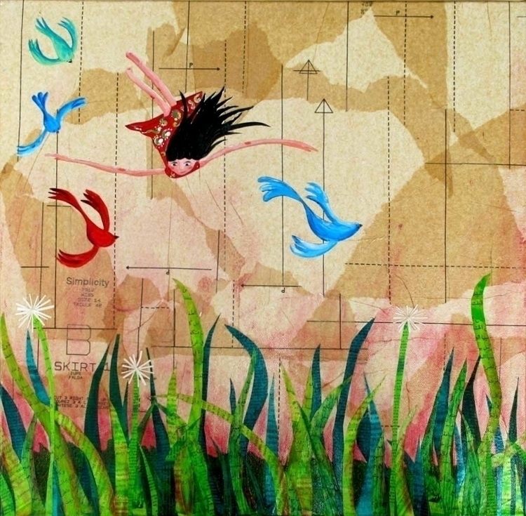 Fresh Grass. Artwork paper acry - palahoyos | ello