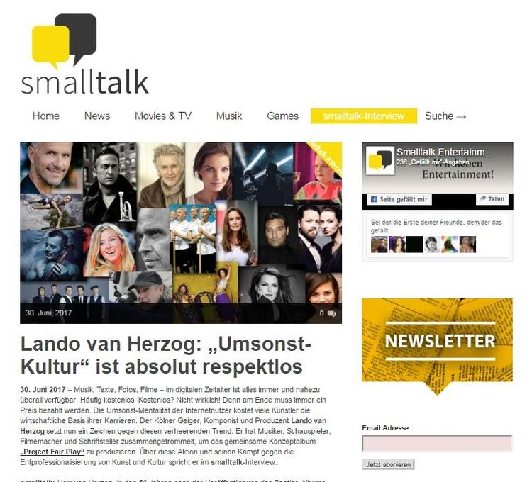 Interview mit Lando van Herzog  - projectfairplay | ello