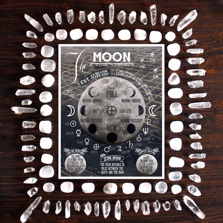 Moon told Stone Violet. Created - stoneandviolet | ello