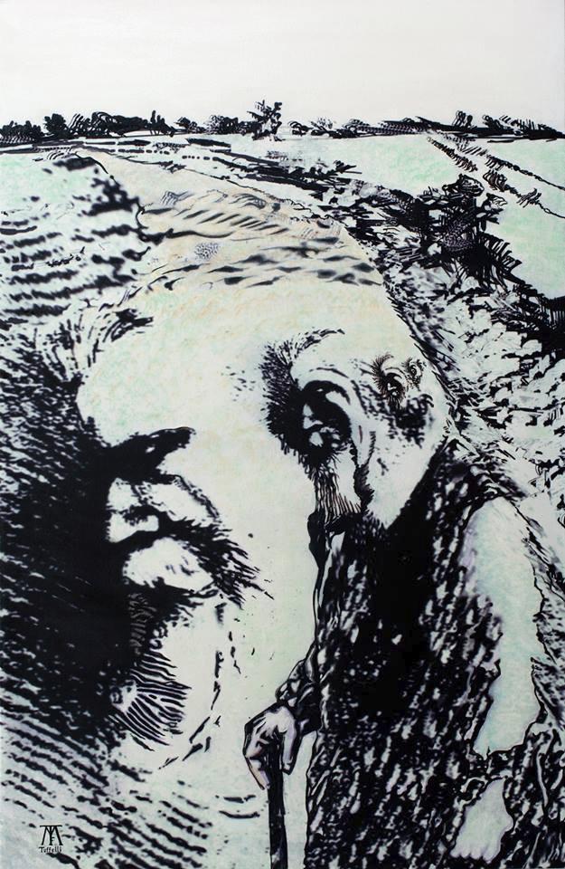 Pére Brottier Acrylic canvas /  - tuffelli | ello