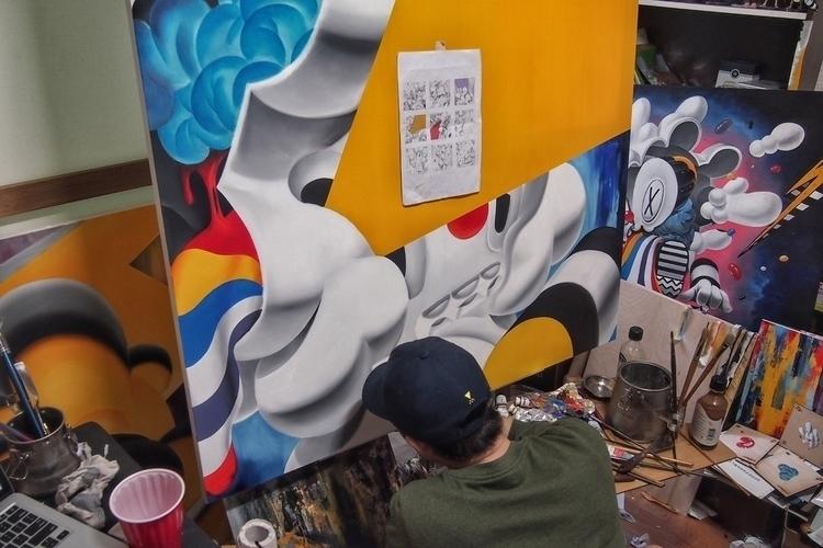 oil painting progress - art, artist - 08am | ello