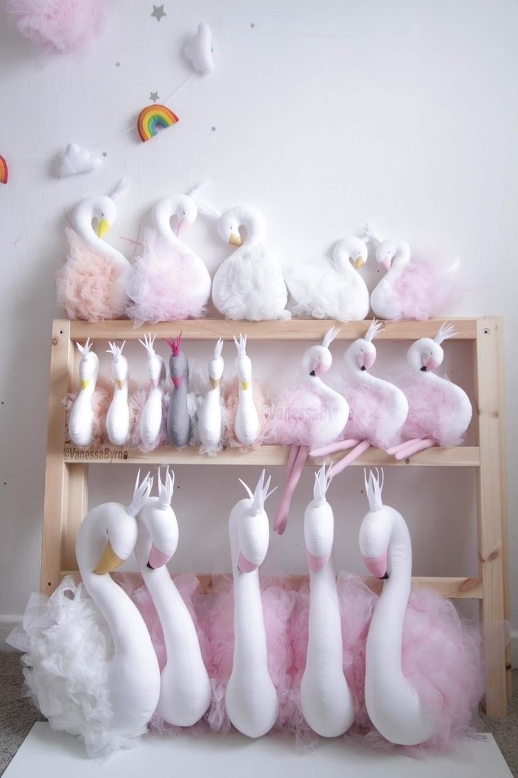 swan, swandoll, swanhead, swancushion - vanessa_byrne | ello