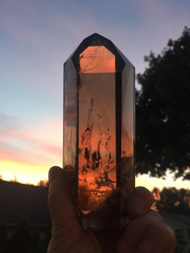 Smoky Quartz sunset - crystals, ellocrystals - midnightauracrystals | ello