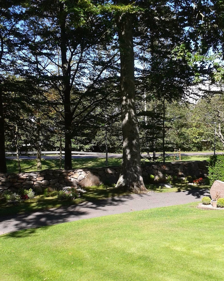 Tätt intill stengärdsgården vil - skogskyrkogardar   ello