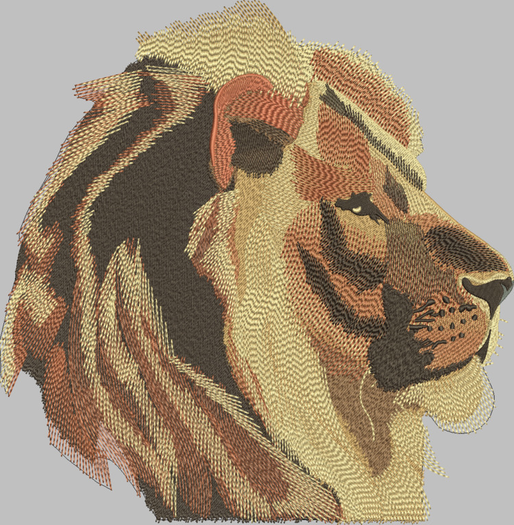 custom machine embroidered lion - deanambro101 | ello