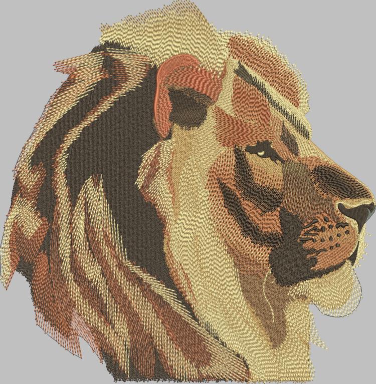 custom machine embroidered lion - deanambro101 | ello