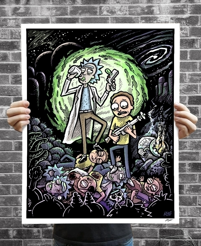 'Rickor Mortis' - Rick Morty il - bradalbright | ello