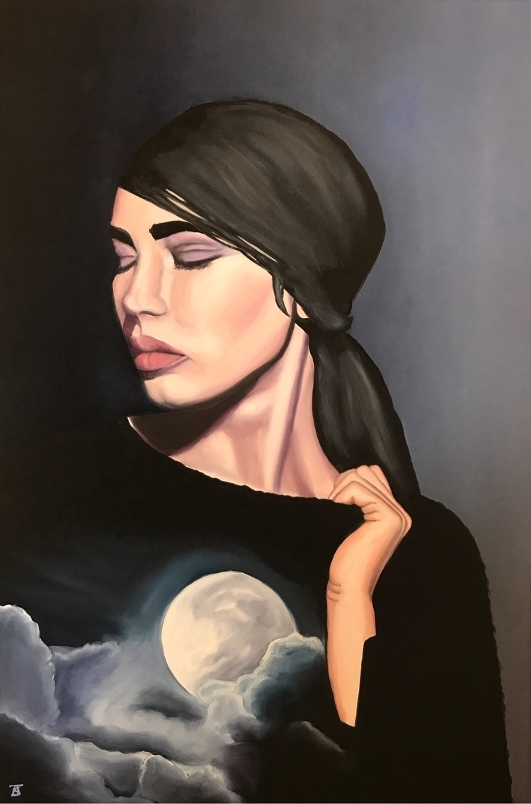 Full Moon oil panel 24 x36 - painting - lovinlight | ello