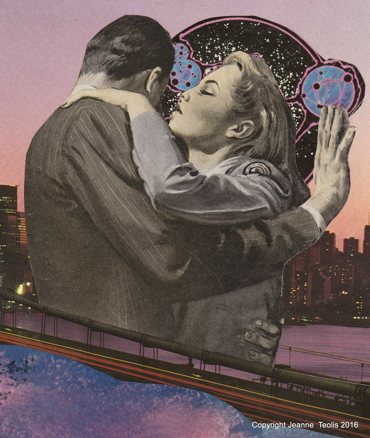 Bridge - analogue, collage, Romance - jeanneteolis | ello