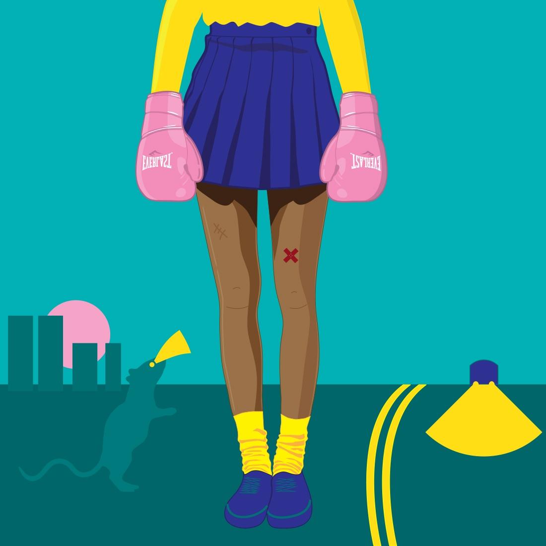 Delhi, gal walks home - minimal - funpowder | ello