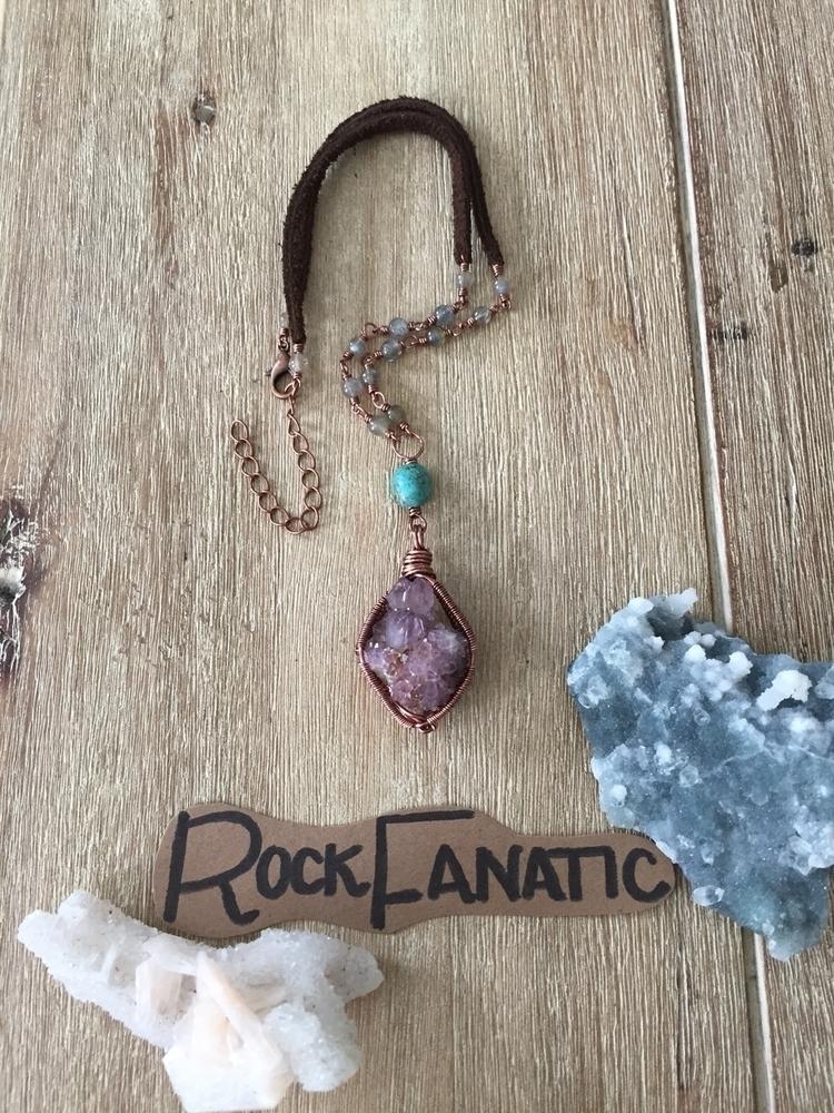amethyst spirit quartz choker!  - rockfanatic | ello