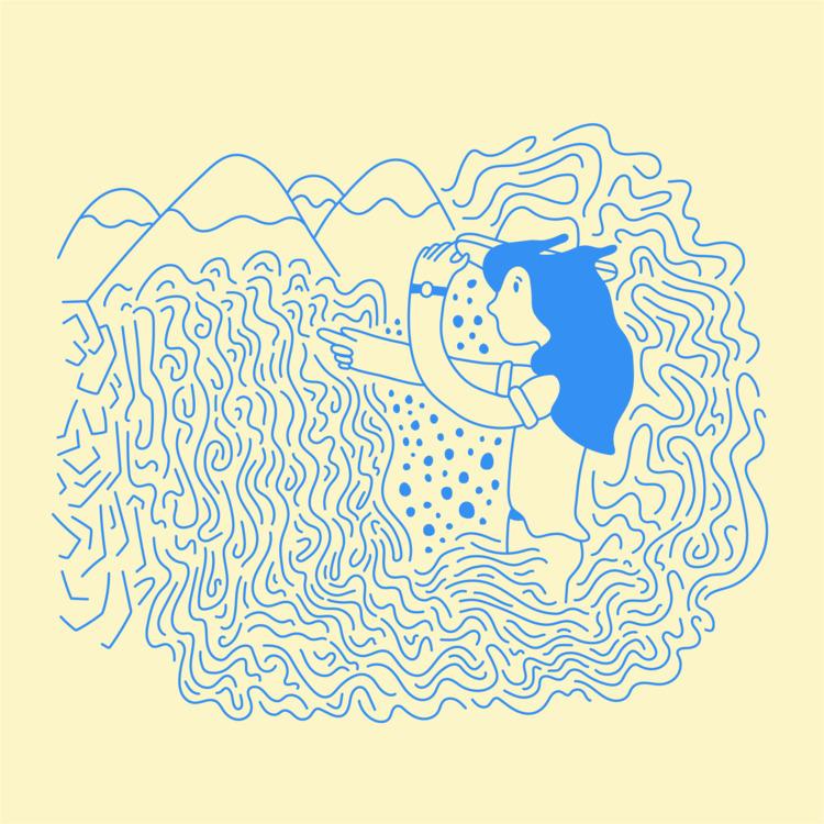 Chasing waterfalls - illustration - heybop | ello