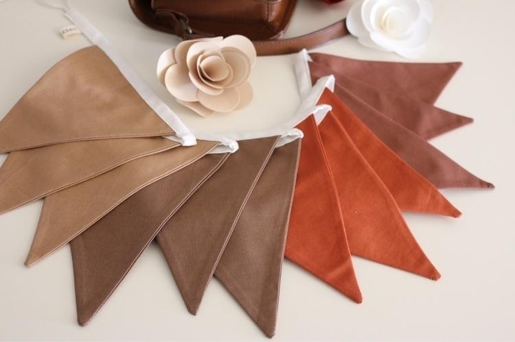 Autumn Bunting - autumn, style, handmade - onepennie | ello