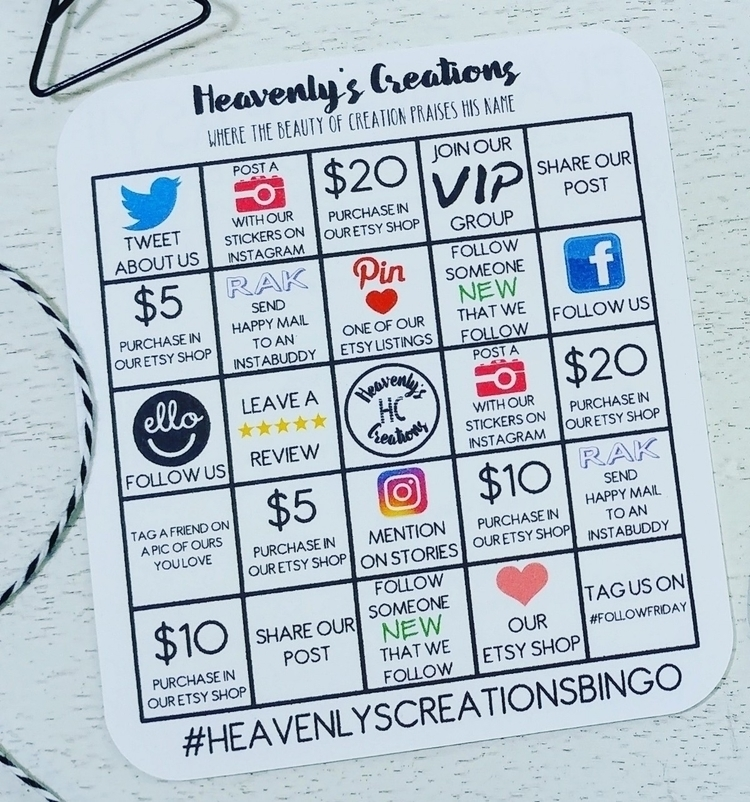 Social media BINGO cards sale c - heavenlyscreations | ello