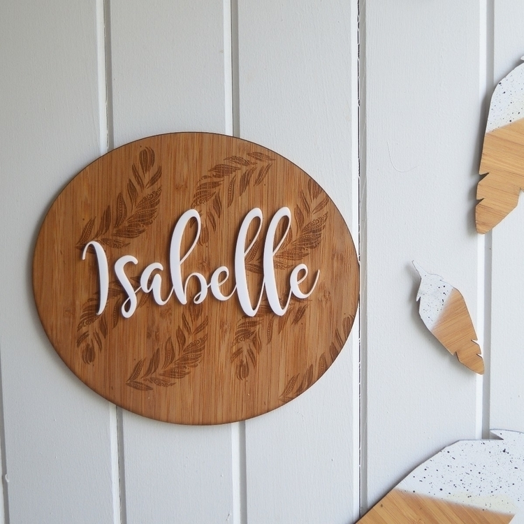 personalised plaque - lasercut, acrylic - blissco | ello