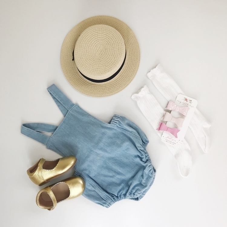 • flatlay chambray romper featu - my__little__love | ello
