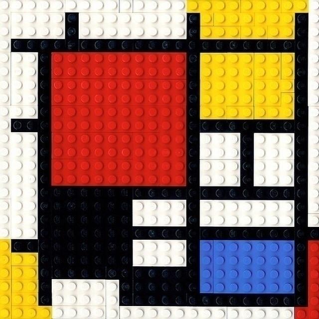 Lego, Homage, Mondrian, DeStijl - bauhaus-movement | ello