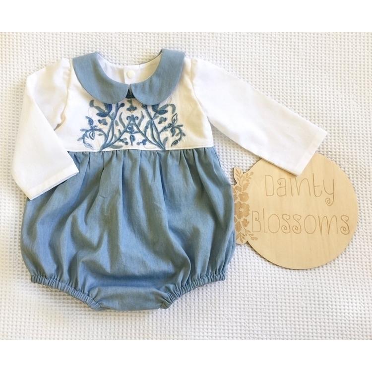 Vintage embroidery soft denim l - dainty_blossoms | ello