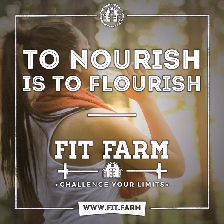 NOURISH FLOURISH. Fitness Motiv - fitfarm | ello