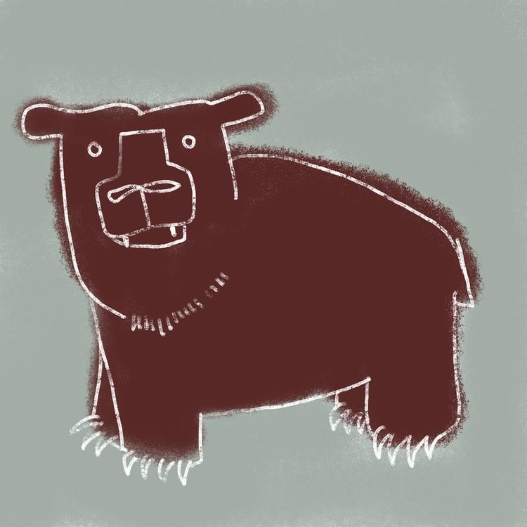 bear, illustration - reneeleigh | ello