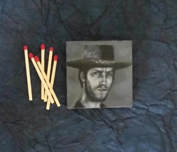 Mini portrait Clint Eastwood Am - nora_ | ello