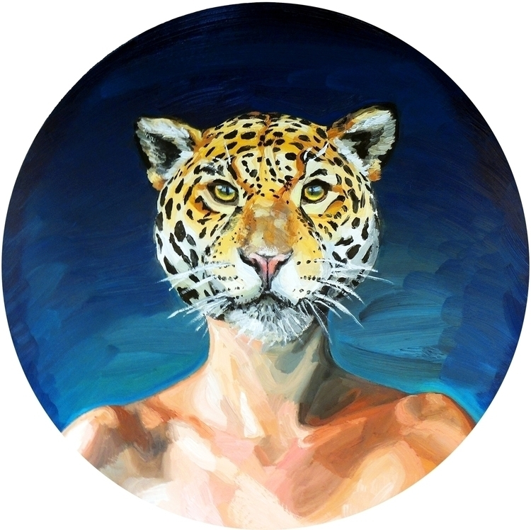 Visions Jaguar People Oil canva - mrosestudio | ello