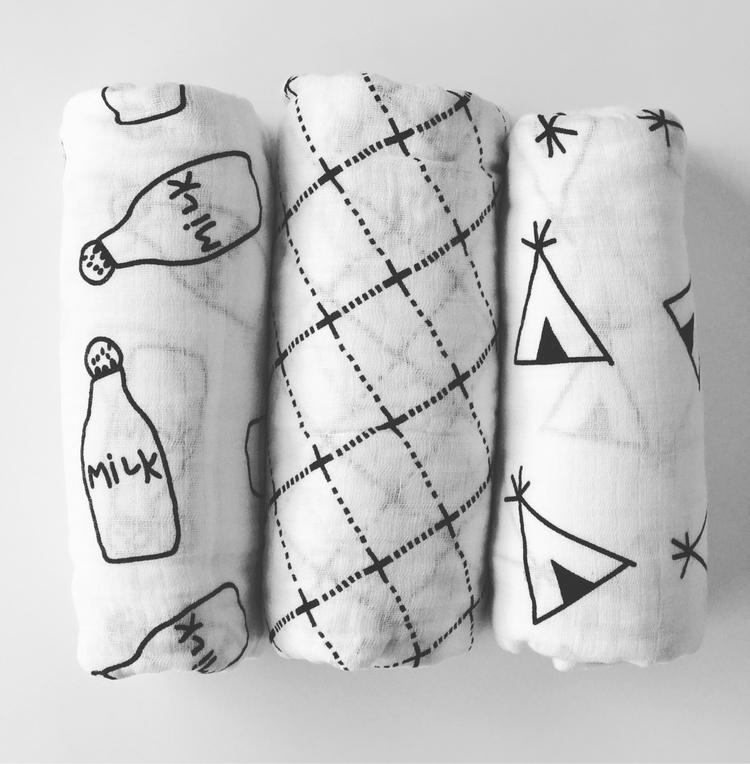 monochrome swaddle beauties 100 - pearandco | ello
