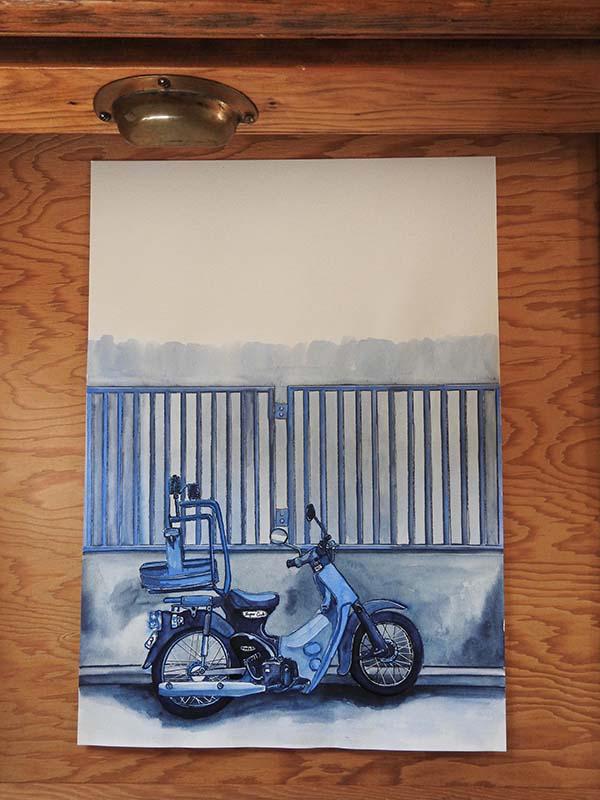 Noodle Bike, Shimokitazawa - bluetokyo - bluebearvendingco | ello