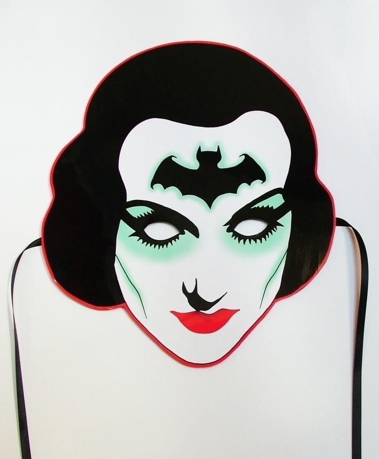 'Glamour Ghoul' Mixed media woo - saffronella | ello