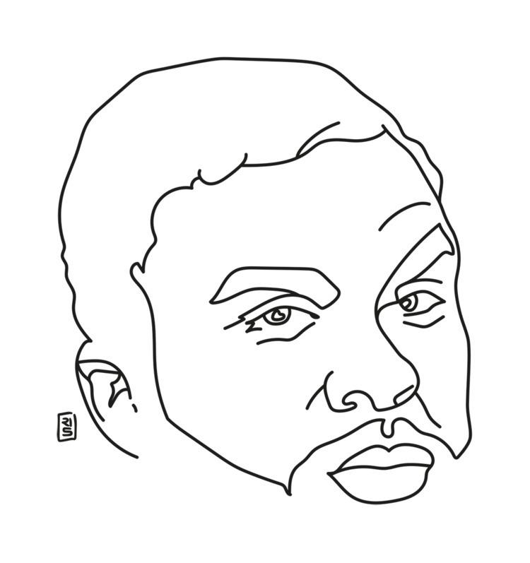 Jidenna - illustration, drawing - rivasinge | ello