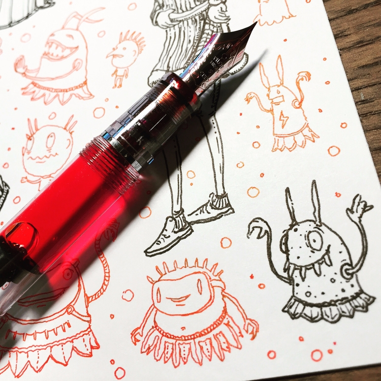 Red Ink. Clear Pen - art, drawing - junkyardsam | ello