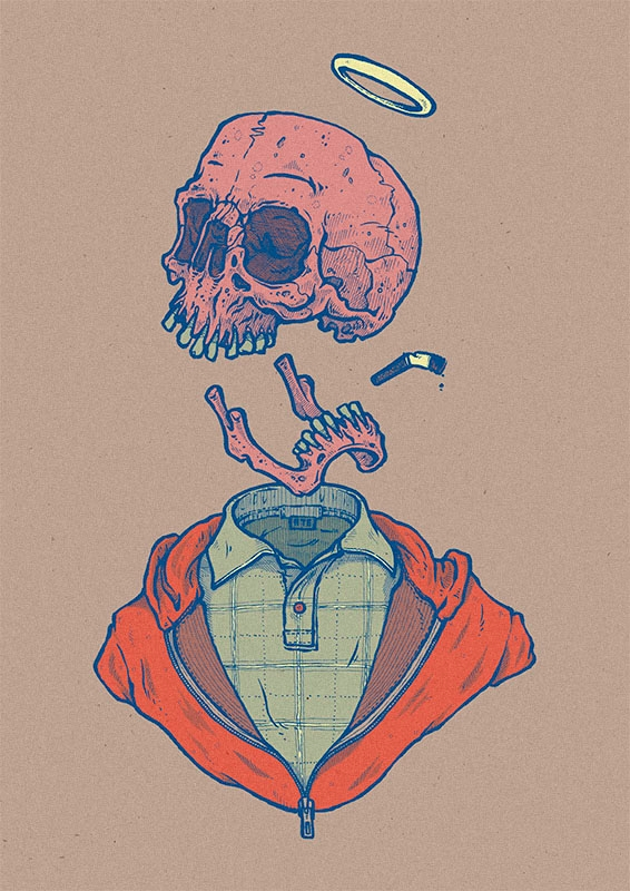 ate, illustration, art, skull - esze_ate | ello