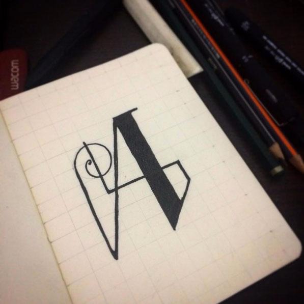 letter - onetypeaday, design, graphicdesign - yamakoshiken | ello