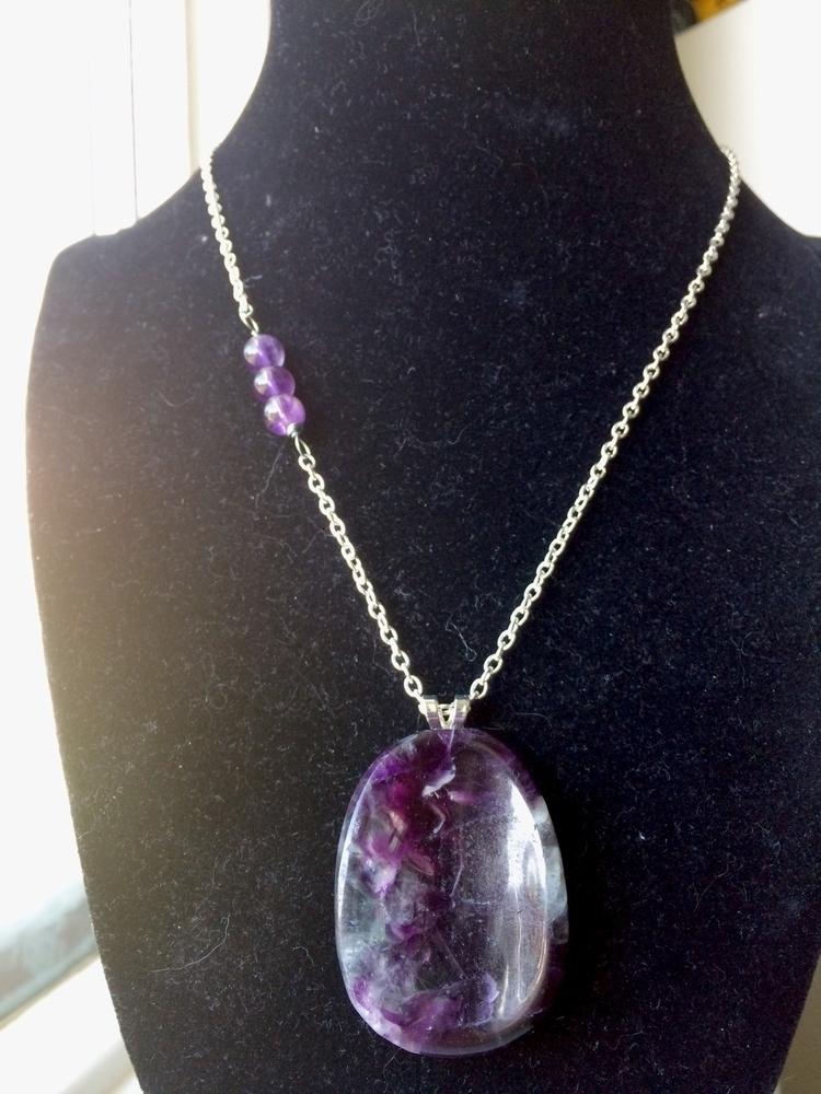 Fluorite amethyst necklace. $25 - hempbykayla | ello