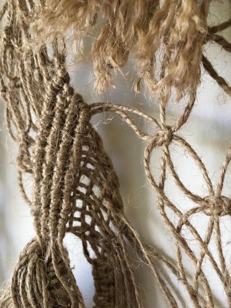 detail - tribal, jute, macrame, macramewallhanging - roundnine9 | ello