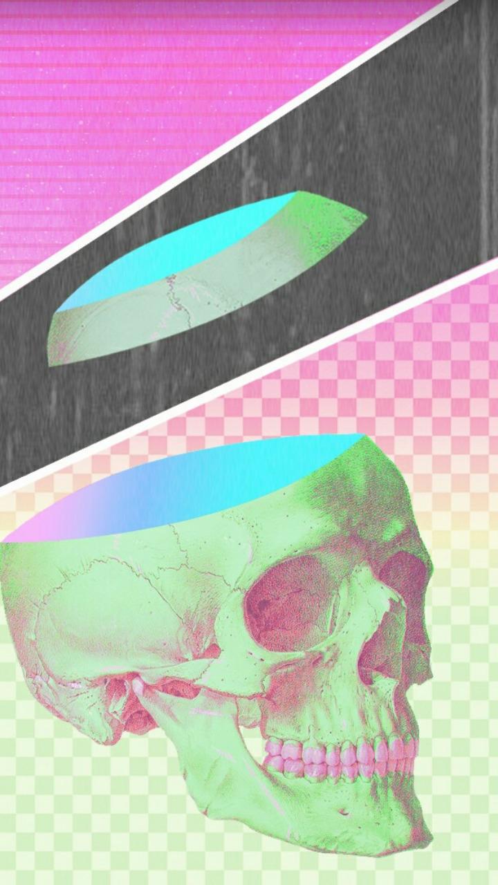 Jetlag [  - design, skull, gradients - valenvq | ello