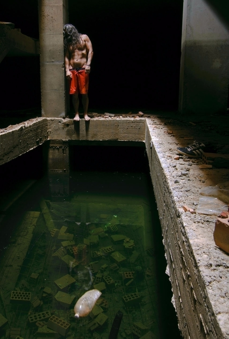 summertime - selfportrait, pool - natxodiego   ello