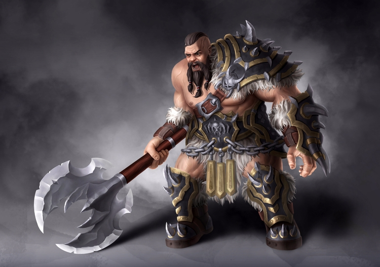 viking, 2d, character, painting - dmytrivmax | ello