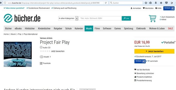 Freitag ist die Veröffentlichun - projectfairplay | ello