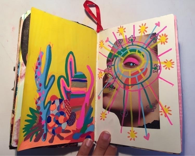 art, collage, markers, colors - elenareyna | ello