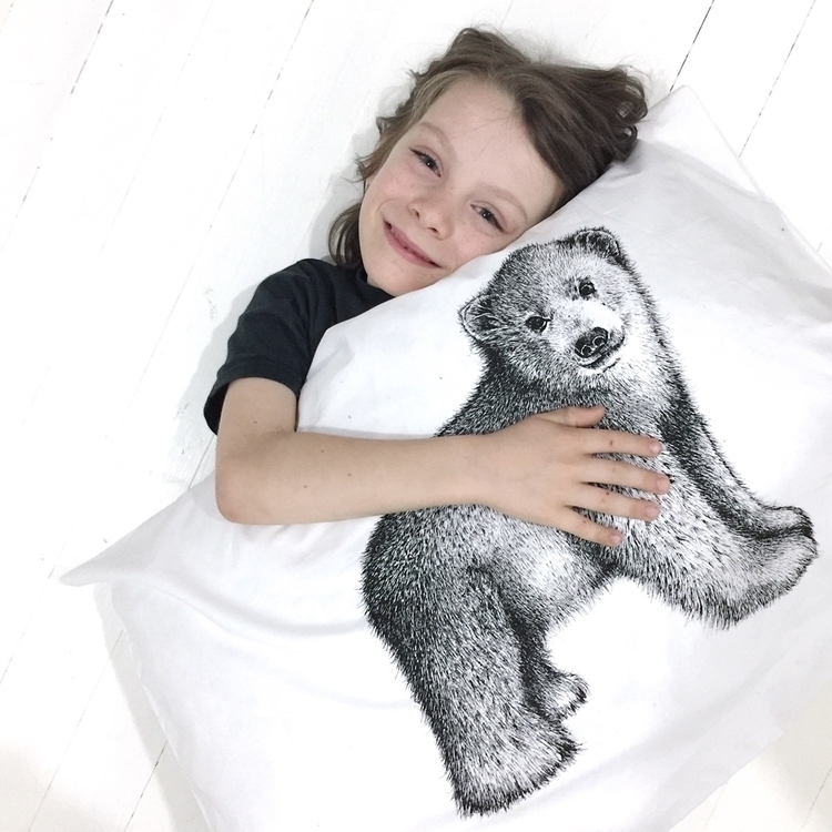 Polar Bear Hug pillow cubs lots - brownpaperlemon | ello