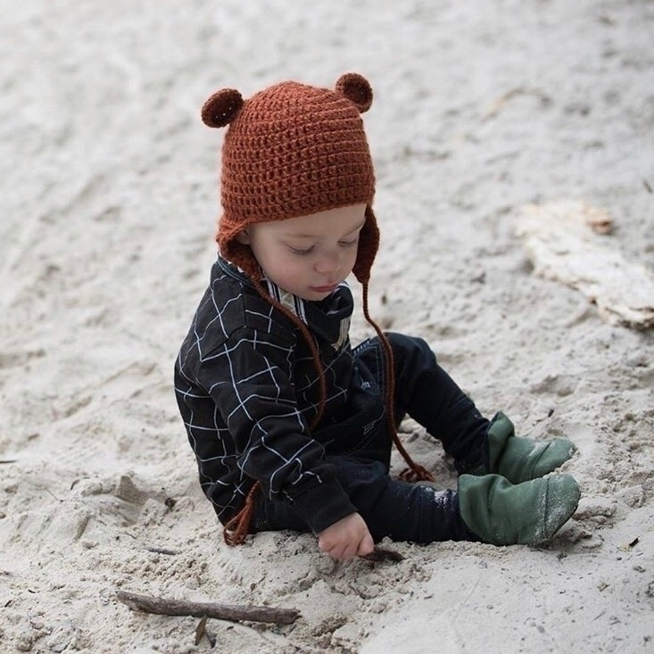 READY POST ⠀ adorable Rust Bear - steeniesbeanies | ello