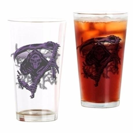 Grim Reaper Scythe Deep Purple  - futureimaging | ello
