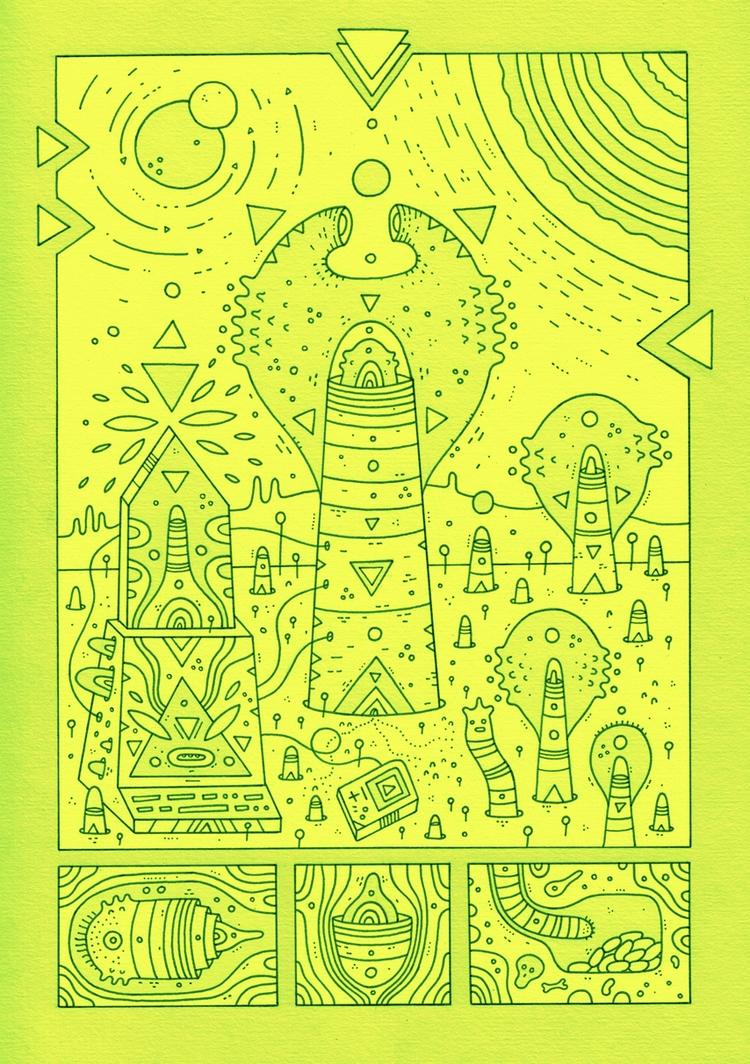 page!! greenified - zine, coloringbook - cosmicnuggets | ello