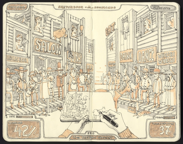 sketchbook commando - mattiasadolfsson | ello