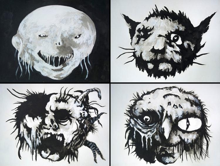 painting/ink studies inspired S - aeronalfrey | ello