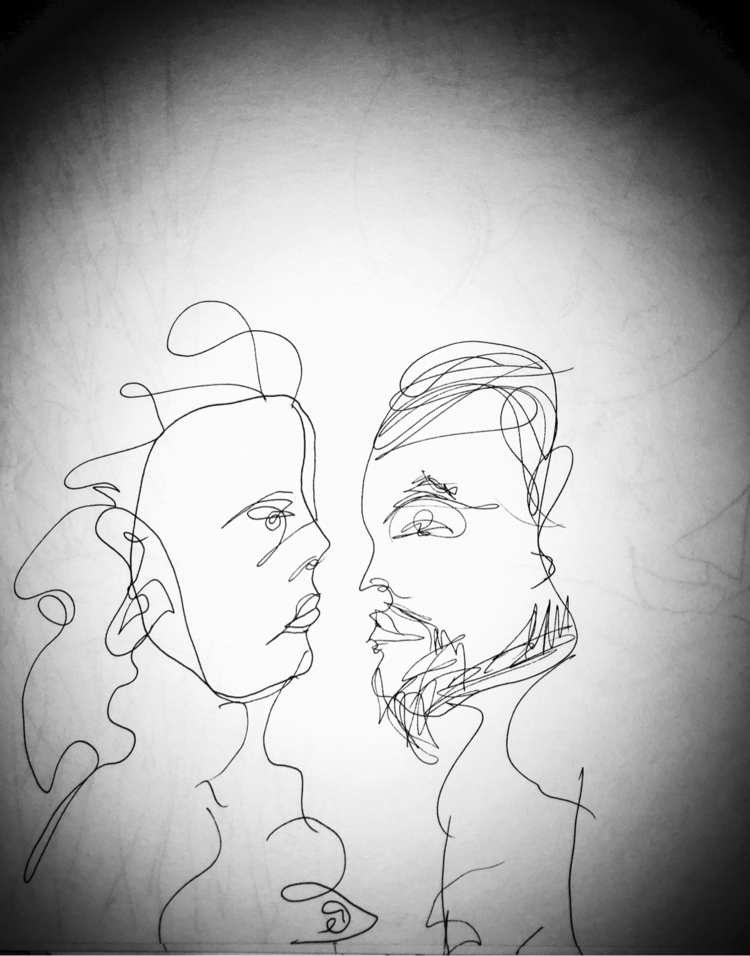 woman man - illustration - xulsolar | ello