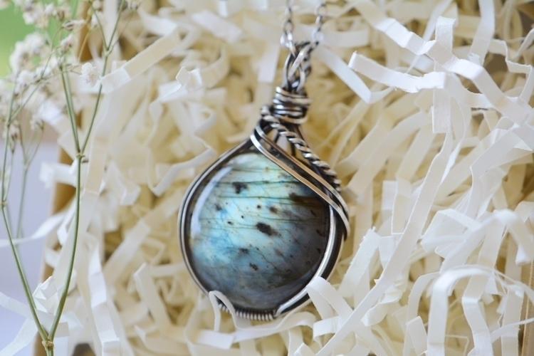 blue labradorite sterling silve - sacredcrystalco | ello