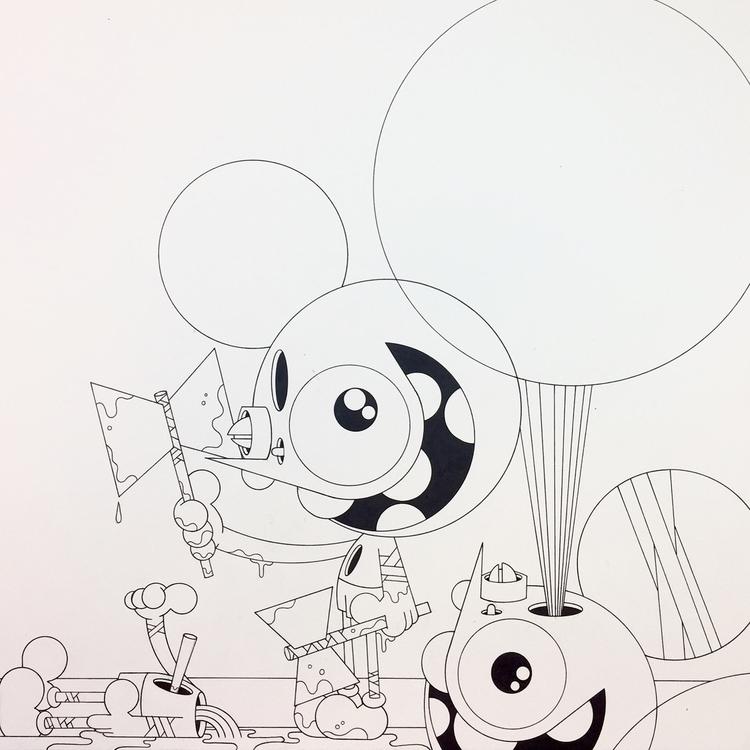 spacemonkey, drawing, dalek - dalek | ello